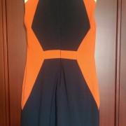 robe vila clothes bleu marine corail blanc